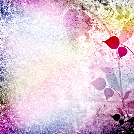 whimsy: Whimsy multicolored floral scenery  Stock Photo