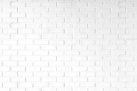 White brick wall texture background. Vintage style.