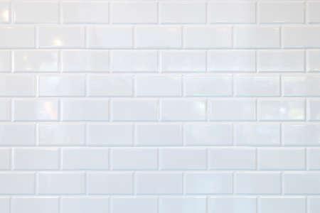 White ceramic brick tile wall,background. Stockfoto