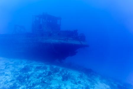 SHIP BENEATH THE SEA Stock Photo