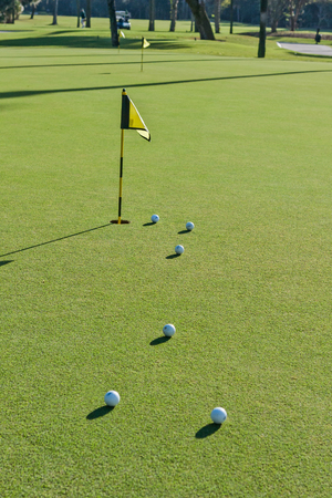 CLOSE LOOK A THE PUTTING GREEN Stock Photo