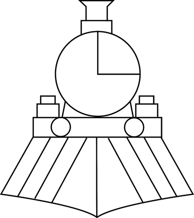 Front view of train