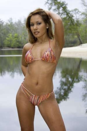 luscious: Beautiful Amer-Asian Bikini Model