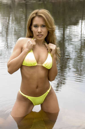 sensuous: Beautiful Amer-Asian Bikini Model