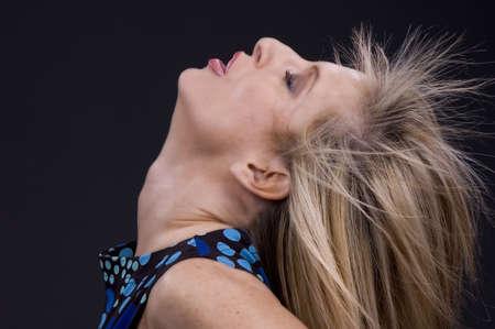blond model cool profile shot
