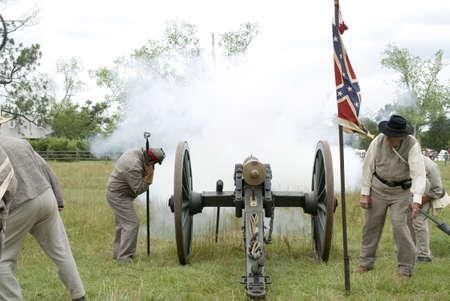 scenes from a civil war reenactment 版權商用圖片