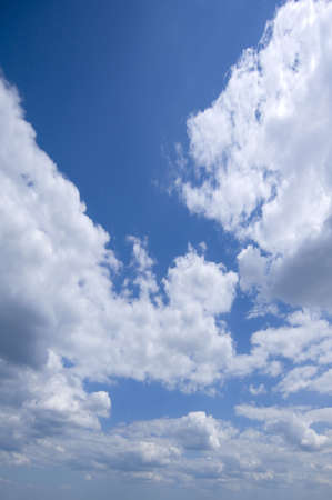 Beautiful sky blue with clouds - great background image!