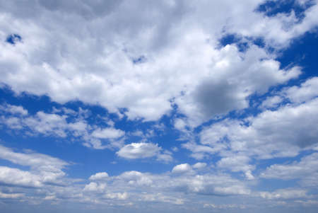 Beautiful sky blue with clouds - great background image! Stock fotó - 443748