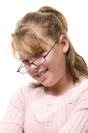 young student smiling with glasses 版權商用圖片