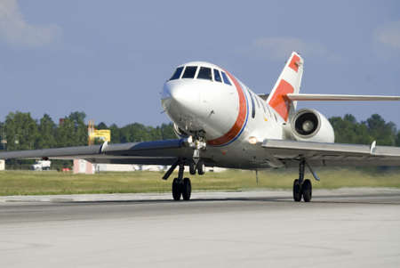 militaire jet landing Stockfoto