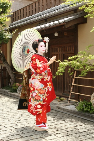 maiko: Maiko in Kyoto Japan Stock Photo