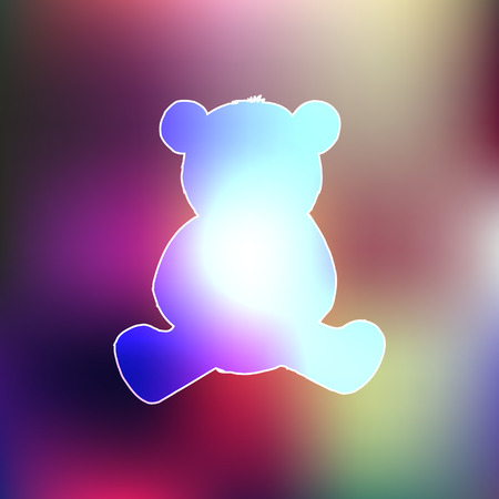 cute bear: Blurred background and the silhouette of a bear Stock Photo