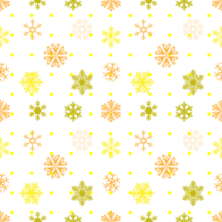 Abstract snowflakes seamless background. Vector EPS 10.