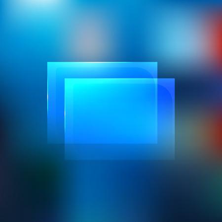 Glass transparent windows banner blurred background. Vector Illusztráció