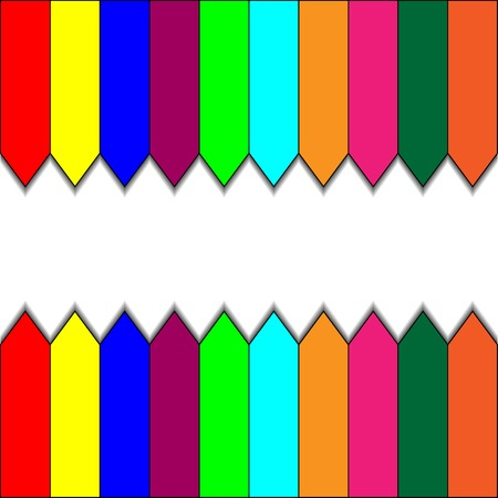 Colorful art fence banner. vector