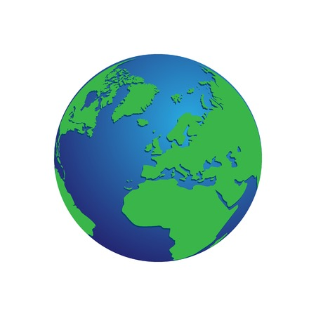 Mundo del doodle con sombra transparente ilustracin vectorial para realistic blue and green 3d world map globe isolated background vector gumiabroncs Image collections