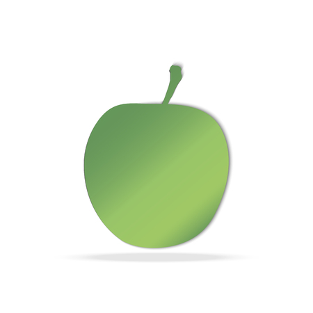 Green apple isolated. Vector illustration Illustration