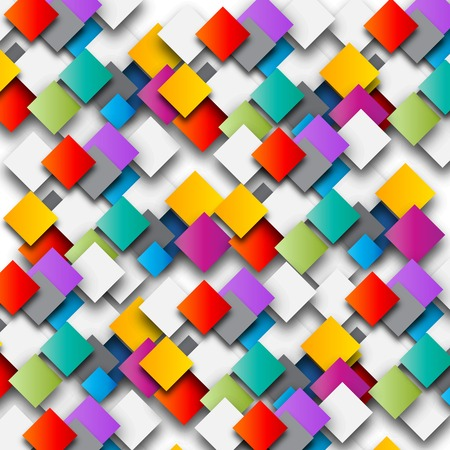 Colored paper squares background illustration