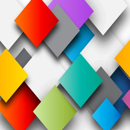 Paper colored squares abstract background Stock Photo