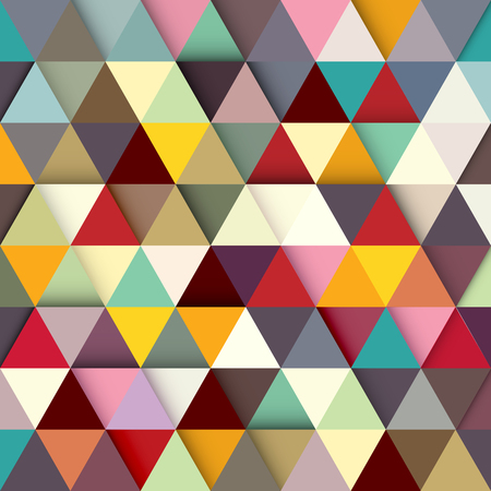 Paper colored triangles background. Vector illustration