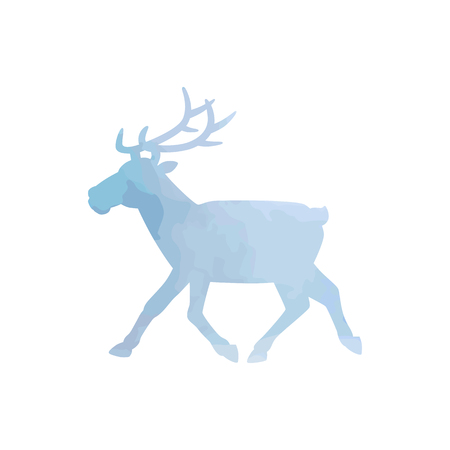 Watercolor north deer art isolated. Vector illustration Illustration