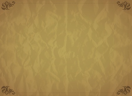 Old retro papper texture background. Vector