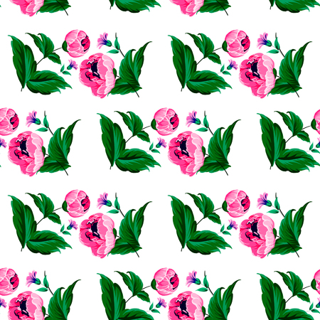 Seamless pattern with elegance blooming english roses. Spring vintage floral background.Vector illustration texture