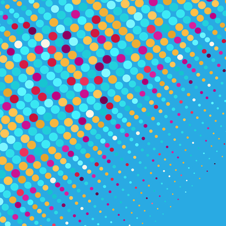 Colorful points abstract scatter banner. Vector