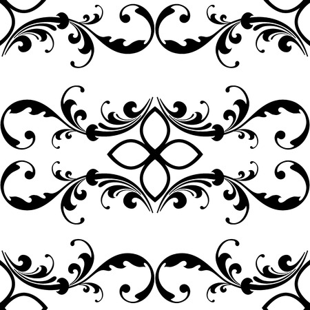 Elegant seamless pattern with classic tracery on a white background. Vintage style. Vector Illustration