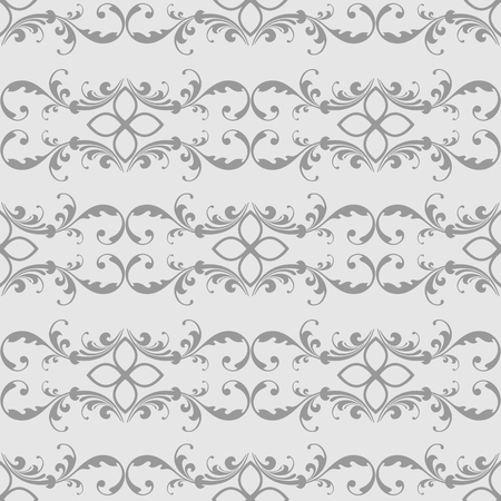 Elegant seamless pattern with classic tracery on a white background. Vector Illustration