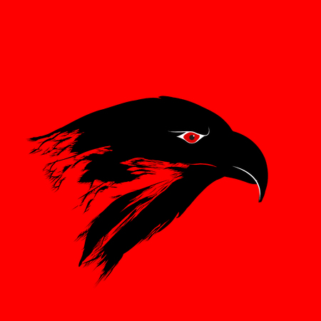Eagle Head Silhouette. Art Logo Vector illustration Illustration