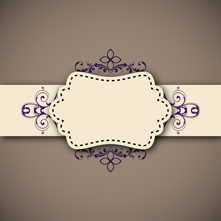Vintage tape old banner template.