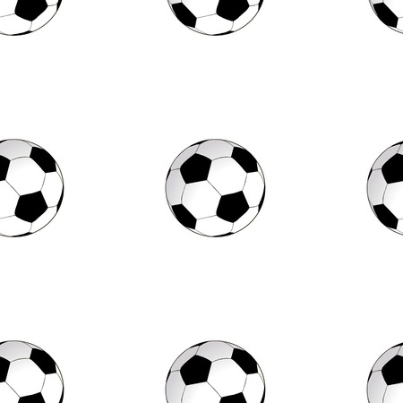 Seamless background with football soccer ball. Illustration
