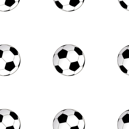 Seamless background with football soccer ball. Stock Photo