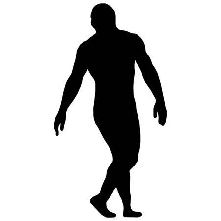Wrestler isolated silhouette vector  イラスト・ベクター素材