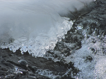 bubbling: Ice and bubbling water Stock Photo