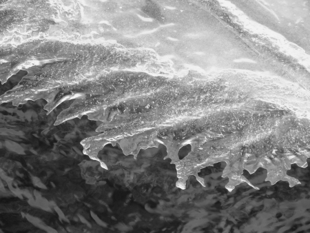 edge of the ice: Edge of ice black and white