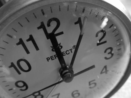 after midnight: alarm clock - 5 minutes after midnight