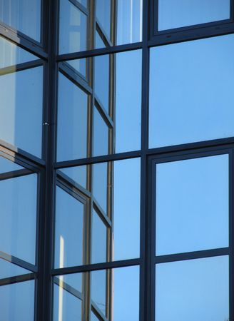 spiffy: reflection of windows in other windows of a modern building Stock Photo