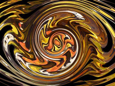 rotating: yellow abstract rotating shapes