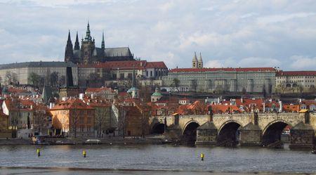 panoramatic: Prague castle Stock Photo