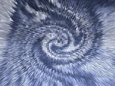 spacetime: Abstract background with spiky rotating shapes in blue tones