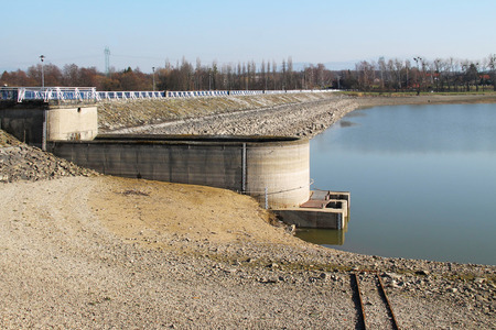 revealed: dike of a dam revealed during the lack of water