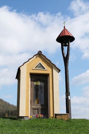 chappel: nice small chappel and belfry on sunny spring day