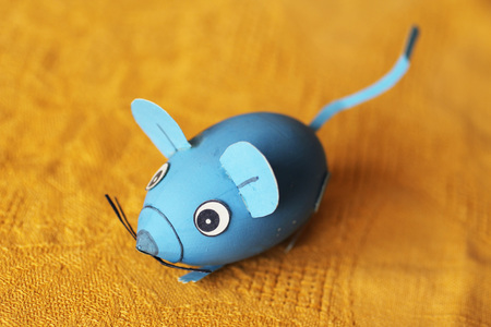 mouse: funny easter egg decorated like a cute mouse