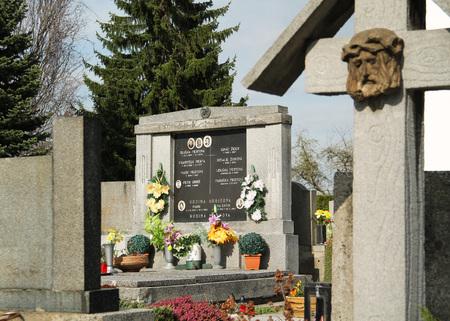 graves on the cemetery in Hodonovice, Czech Republic
