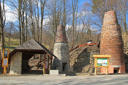 old brick furnaces for processing lime in Vendryne, Czech Republic