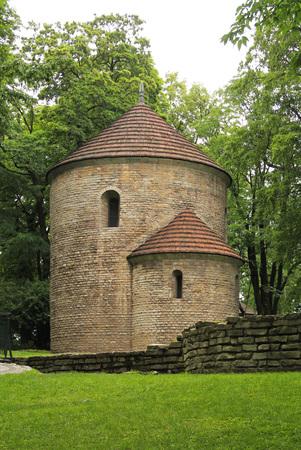 historical rotunda in the park in Cieszyn, Poland