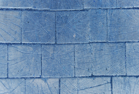 old wooden cobblestones, useful as background, in blue tones