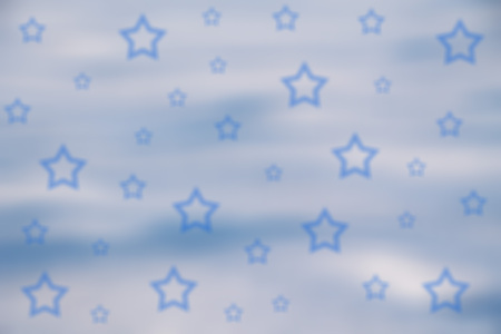 blurred light blue winter background with stars Imagens